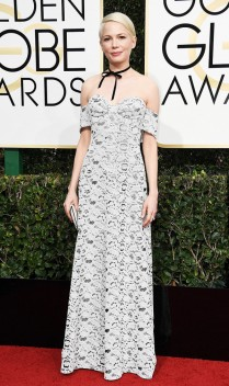 Michelle Williams apostou em um Louis Vuitton. Foto: Getty Images.